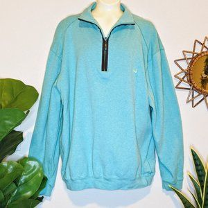 Southern Marsh Teal Pullover 1/4 Zip-Up Top